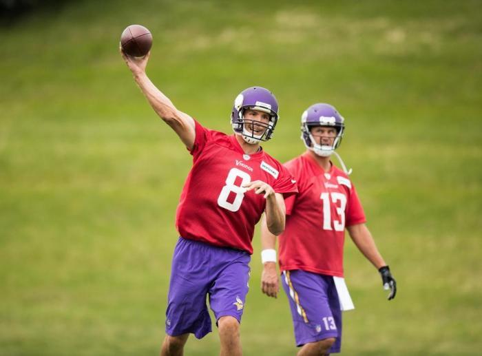 Bradford Face Vikings Practice September 2016