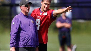 Mike Zimmer and Kirk Cousins.