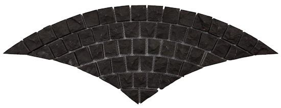 Basalt - Ulrich Bluestone Fan Pattern Cobble