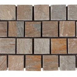 Quartzite - Helmspeak interlocking cobble on mesh