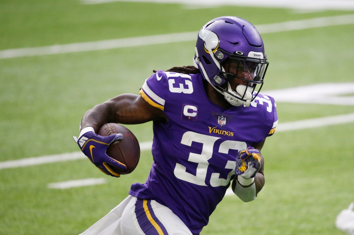 Minnesota Vikings RB Dalvin Cook is going with No. 33, not No. 4