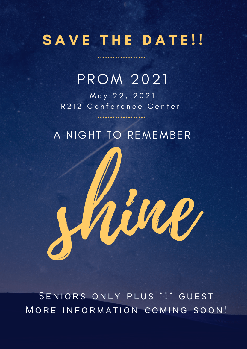This image has an empty alt attribute; its file name is PROM-Announcement-2021.png