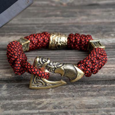 Фото паракордовый браслет с бусинами