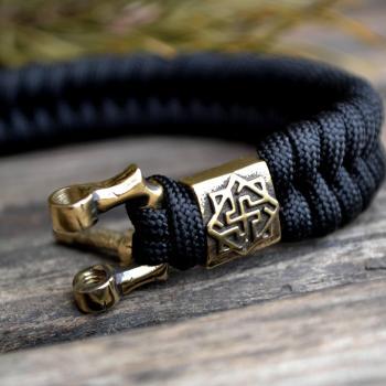 Фото паракордовый браслет с бусиной валькирия