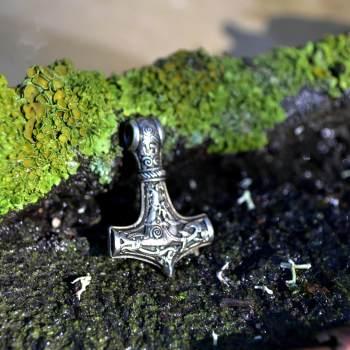 Фото молот Тора из латуни, шарм-украшение, кулон, застёжка на браслет