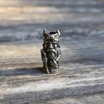 Фото бусина Велес из нейзильбера
