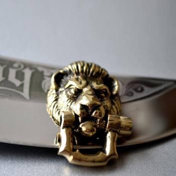 Фото застёжка из латуни голова льва