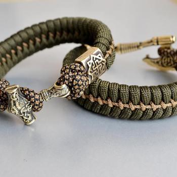 Фото плетеный браслет из паракорда с застежкой