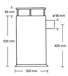 Refleks kamin modell 60 5,8 kW