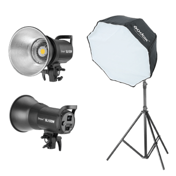 100W White Version LCD Panel LED Video Light Continuous Output Elinchrom Mount Studio Light