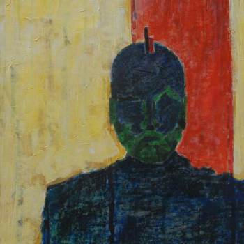 Becoming One with Space   29in x 48in   Mixed Media   2008