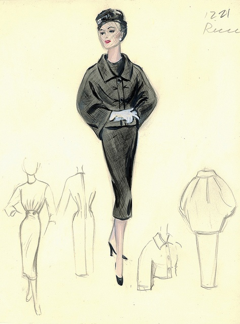 Nina Ricci Dress and Jacket by FIT Library Department of Special Collections, via Flickr