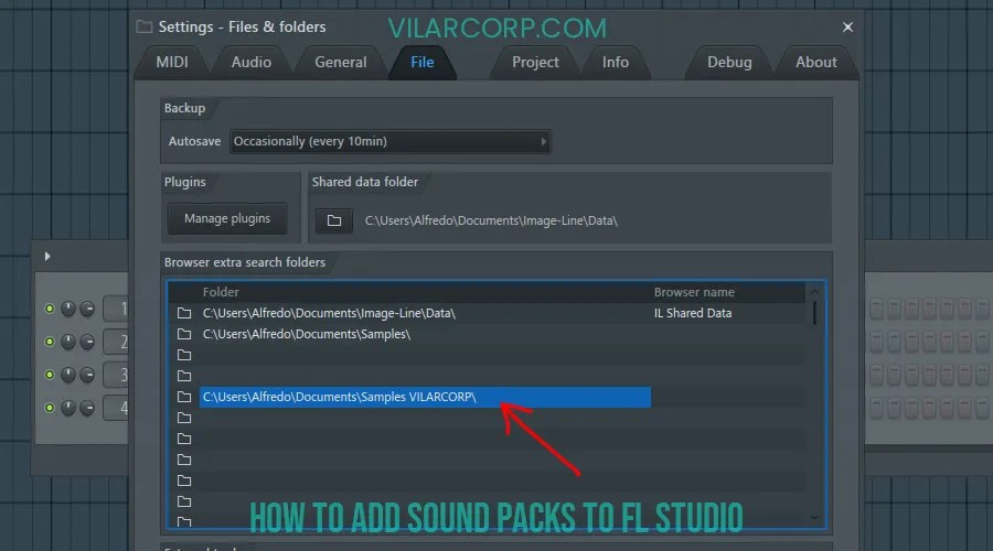 how to add sound packs to fl studio - extra search folder