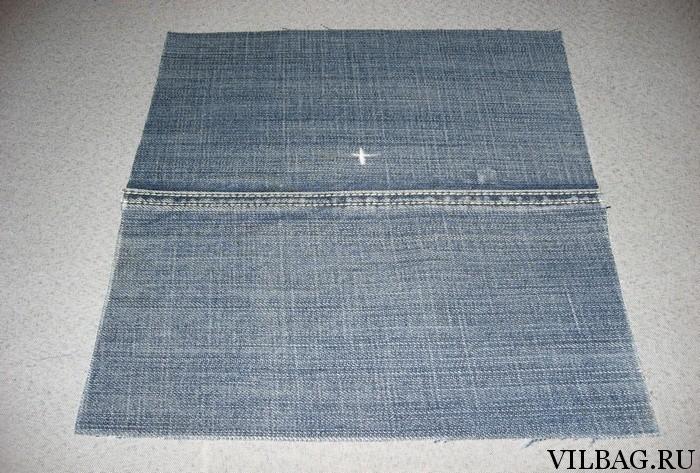 Клатч из джинса
