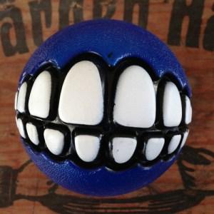 bild på en blå grinz boll