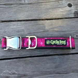 Cycle dog Hot Pink Retro Flower hundhalsband