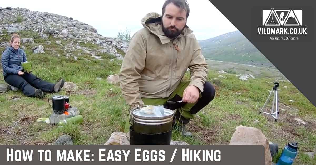 Homemade hiking meal easy eggs