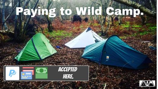 paying to wild camp in the u.k.