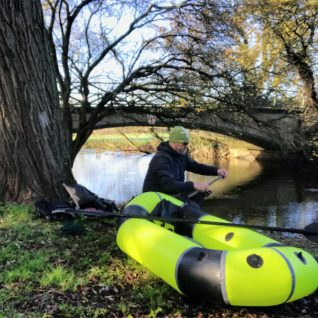 Packrafting on the River Waveney from Homersfield.