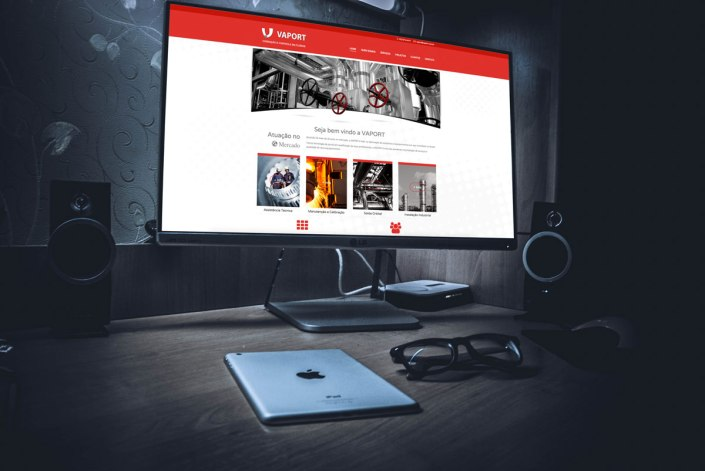 Tela Website Cliente Vaport