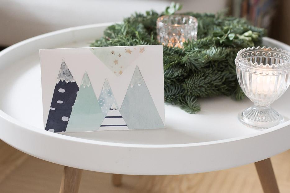 weihnachtskarten selbst basteln villa josefina. Black Bedroom Furniture Sets. Home Design Ideas