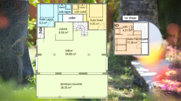 Plan de la villa Blue Lagoon Saint-François