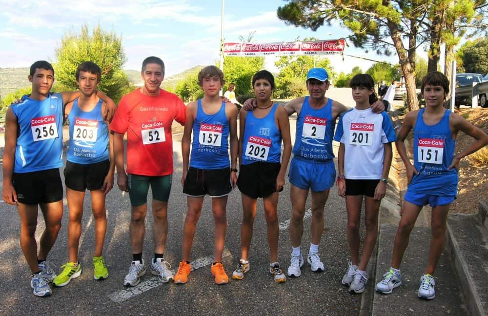 Atletas Club Atletismo Barbastro participantes en 2010.jpg