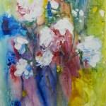 Image of acrylic painting by Cheryl Carpentier White flowers in vase