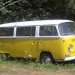 Image of yellow VW bus photograph by VGA artist Fran Gilleland