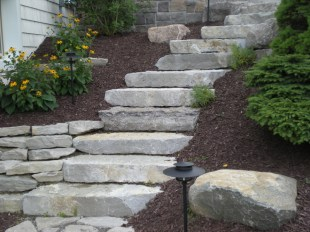 Planting_and_cut_stone_Stairs_Landscaping