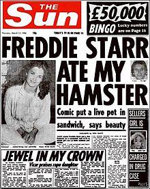 Freddie Starr ate my hamster