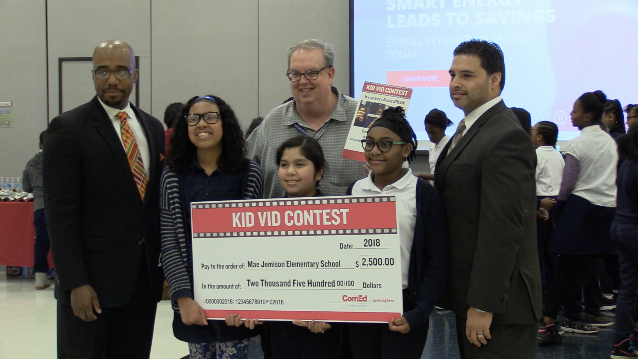 Congratulations To Mae Jemison Elementary Student Winners Of Comed S Kidvid Contest Village Of