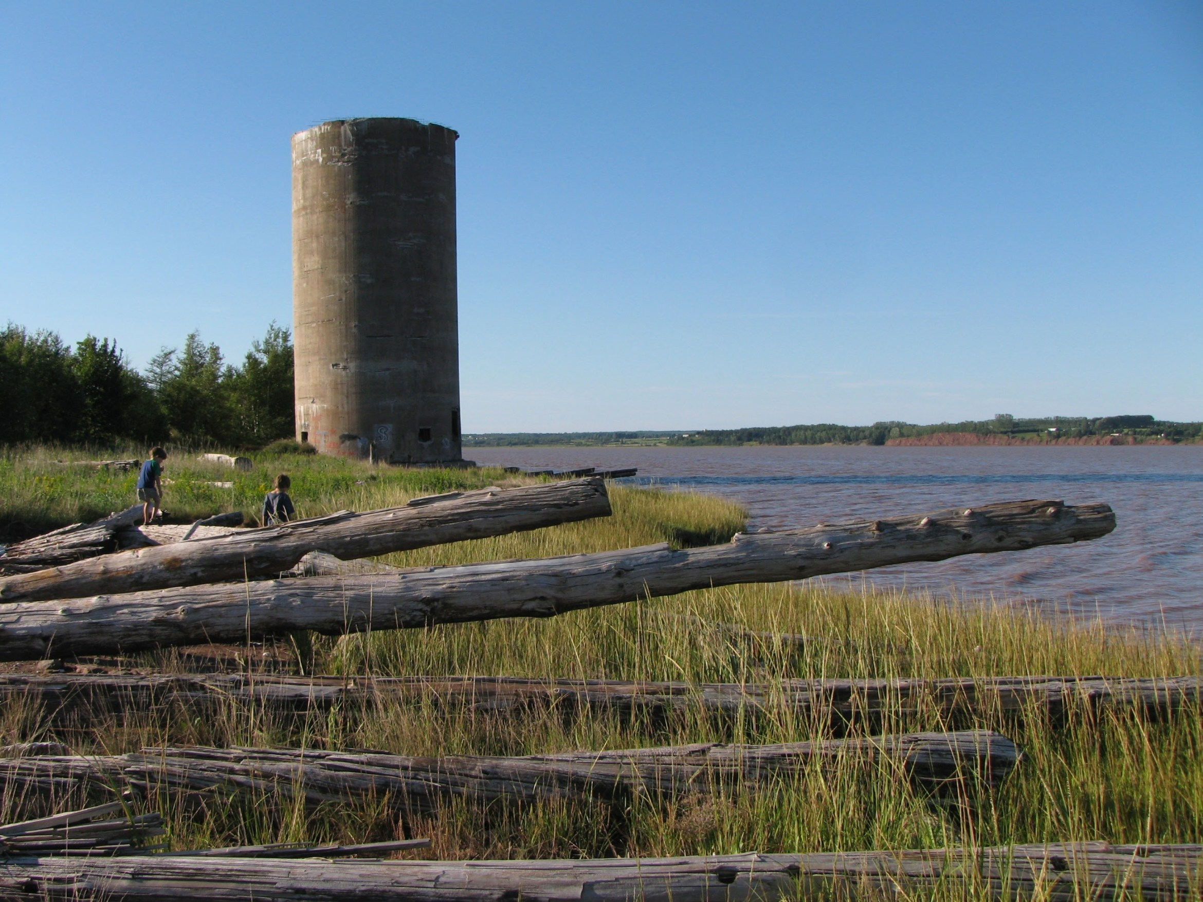 The old silos and wharf in Hillsborough, NB.