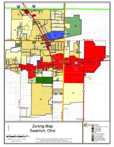 Swanton zoning map (last updated September 2020)