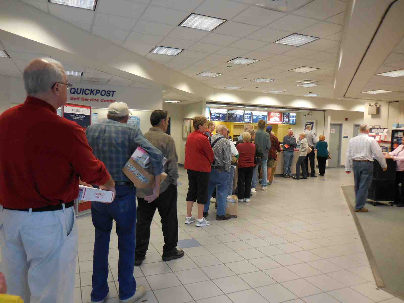 Local Postal Customers Face Long Lines As Christmas