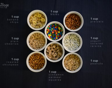 Kid friendly trail mix ingredients