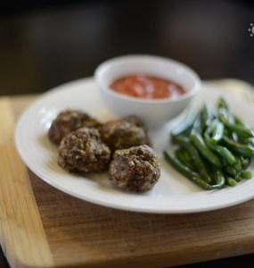 pesto meatballs