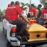 Scenes from Orin Boston's funeral
