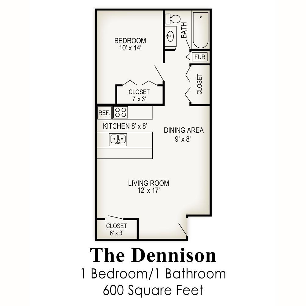 600 Sq Ft Apartment Floor Plan