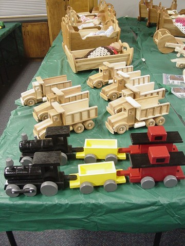 2011 Village Woodworkers Toy Donations