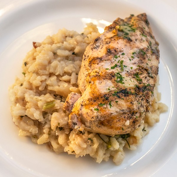 Lemon Chicken with Parmesan Risotto