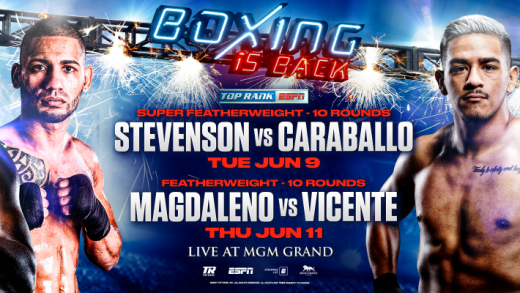 Live Boxing is Back: Shakur Stevenson and Jessie Magdaleno to Headline June Cards