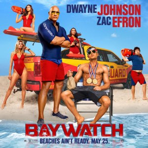 Dwayne Johnson & Zac Efron in Baywatch, from Paramount Pictures