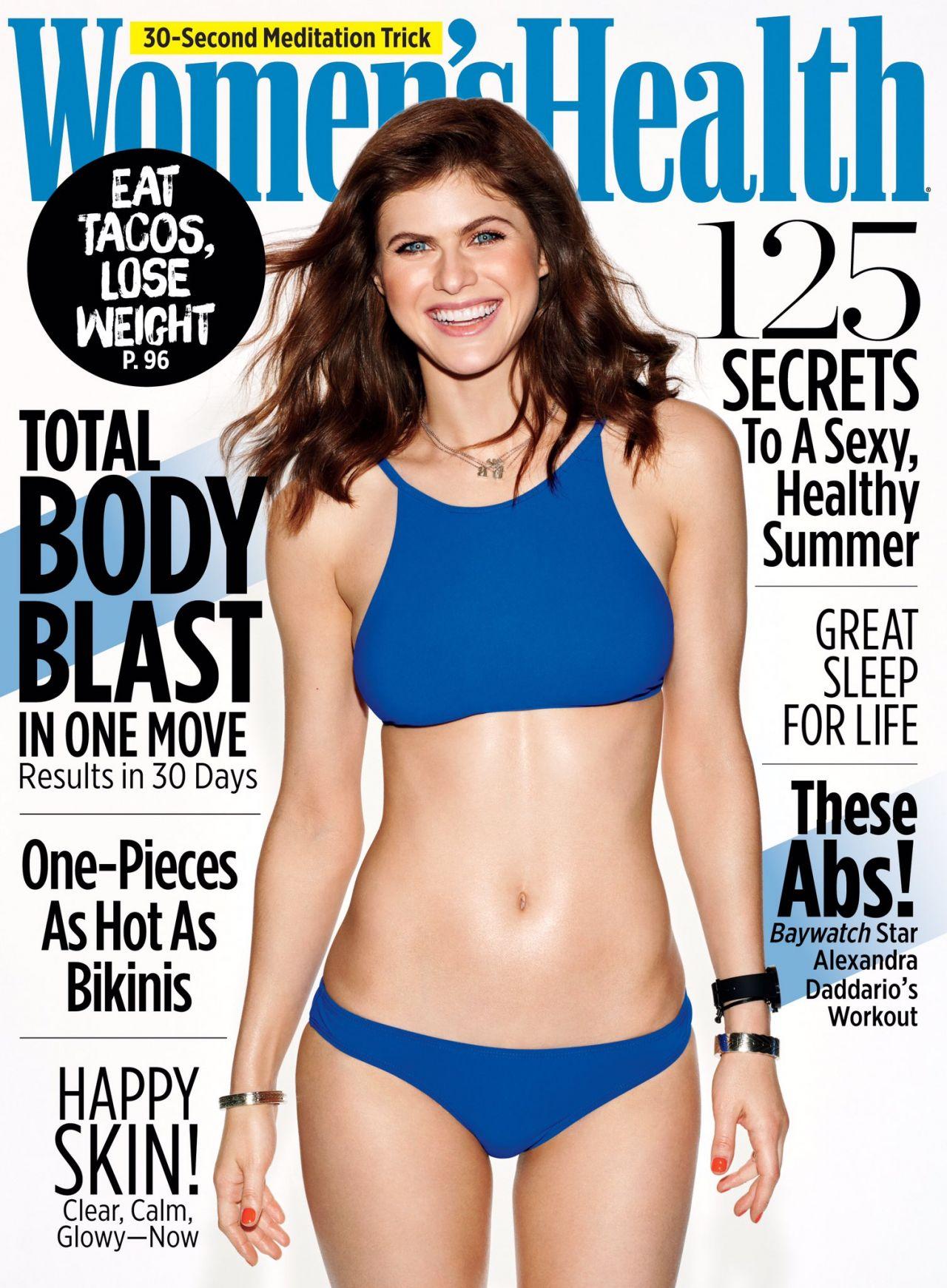 Alexandra Daddario's Women's Health Cover