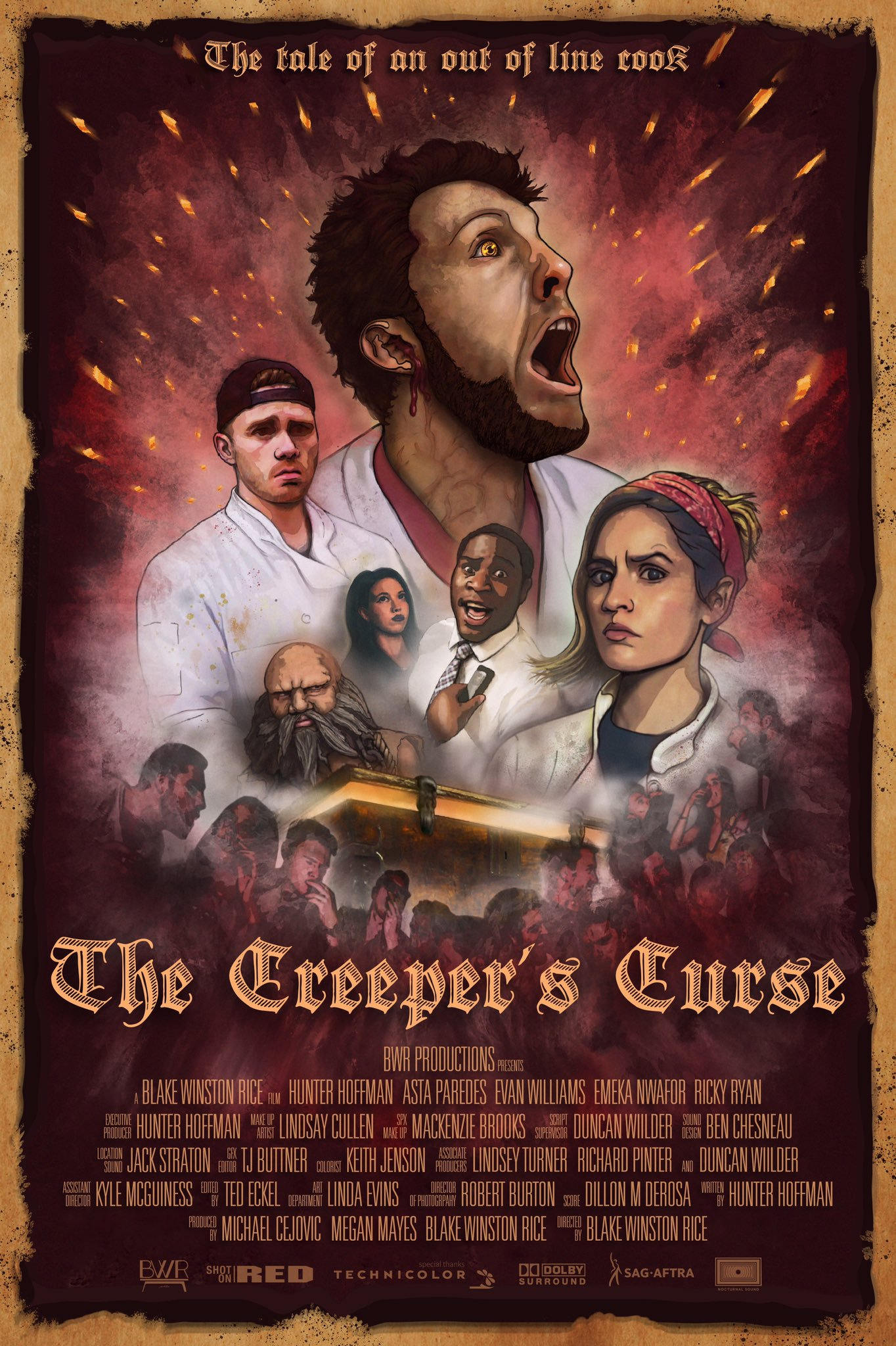 Curse Official, Hunter Hoffman, Creeper's Curse Poster, Poster