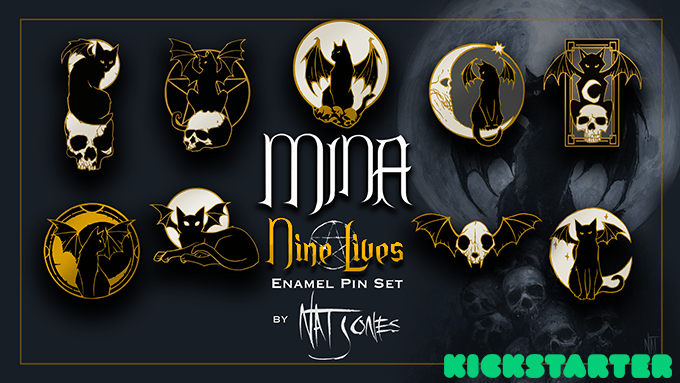5 Reasons We Love 'Mina the Bat Cat' Pin Set!