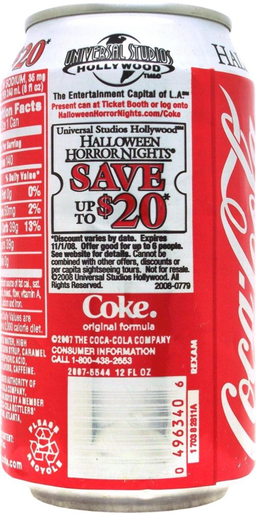 coca cola halloween horror nights 2017 upc code cartoonview co