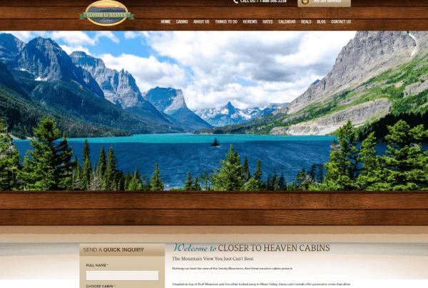 Cabin Website Design