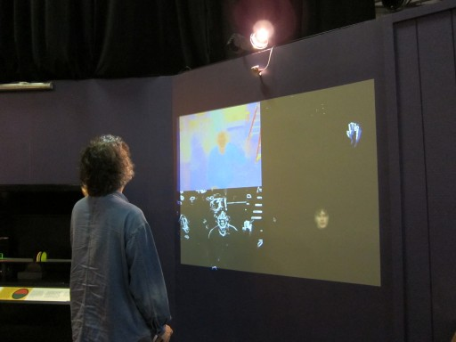 """Visual Streams"" installation during testing"