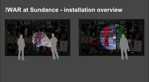 WAR at Sundance concept, multi-screens and multi-user